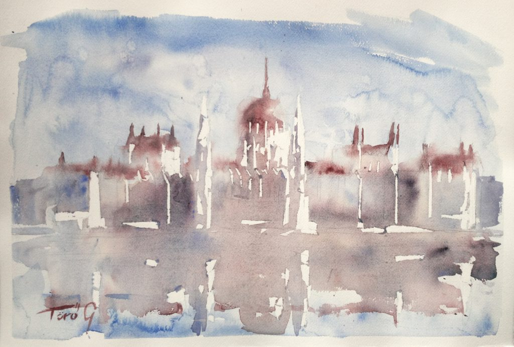 PARLIAMENT OVER THE DANUBE, 56X38, 2017